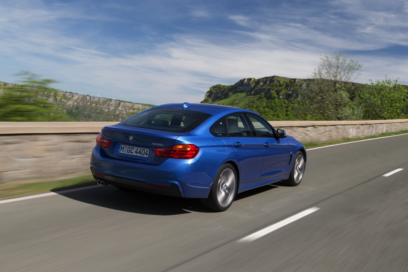 bmw 428i gran coupe shines blue in new official photos autoevolution. Black Bedroom Furniture Sets. Home Design Ideas