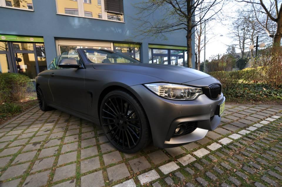 BMW 428I Convertible >> BMW 435i Convertible Gets Centurion Grey Matte Wrap - autoevolution