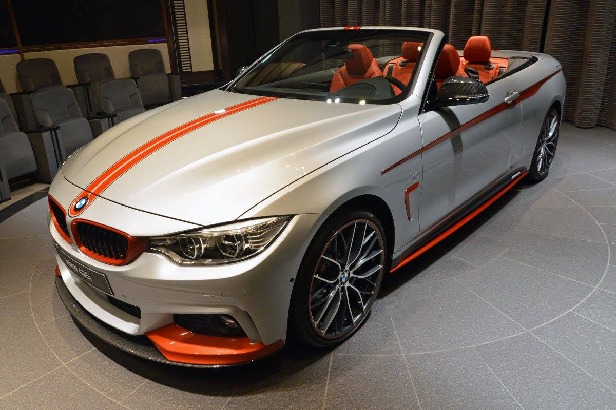 BMW 435i Convertible Gets Orange M Performance Kit ...