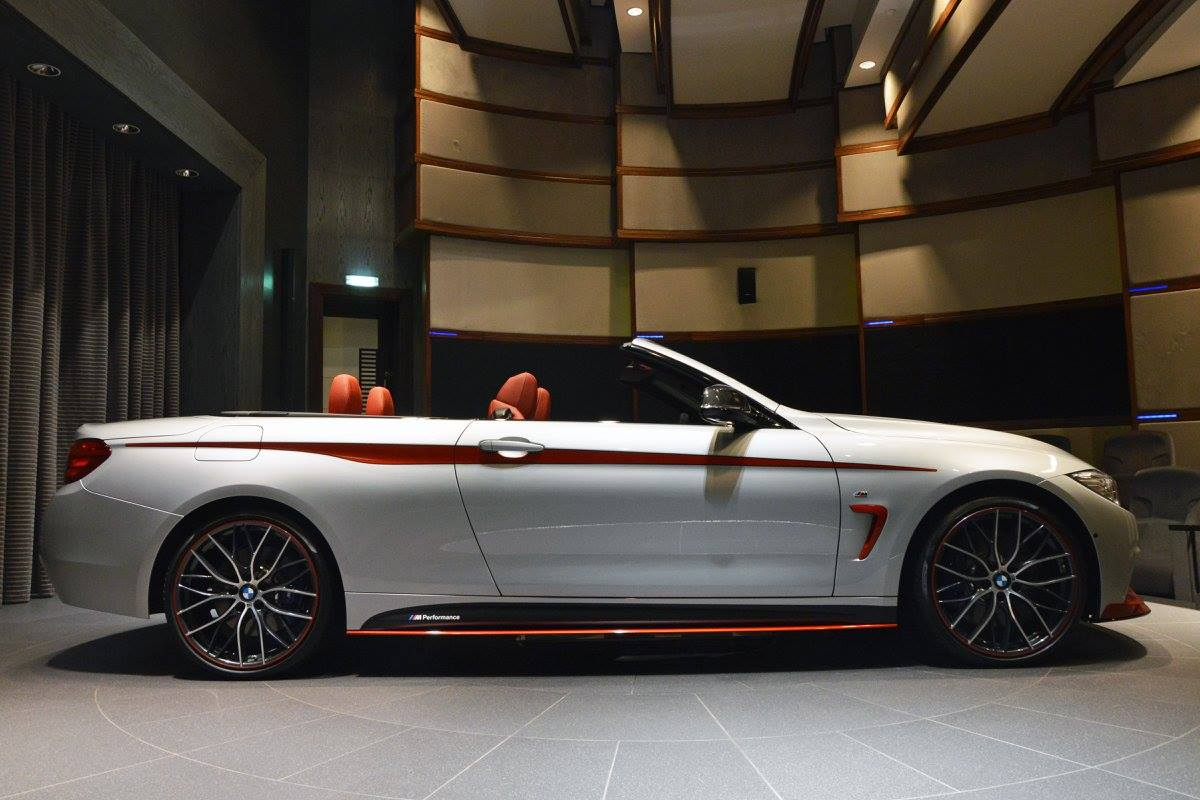 bmw 435i convertible performance orange gets kit akrapovic pipes cabriolet biome benz mercedes custom autoevolution funky accents