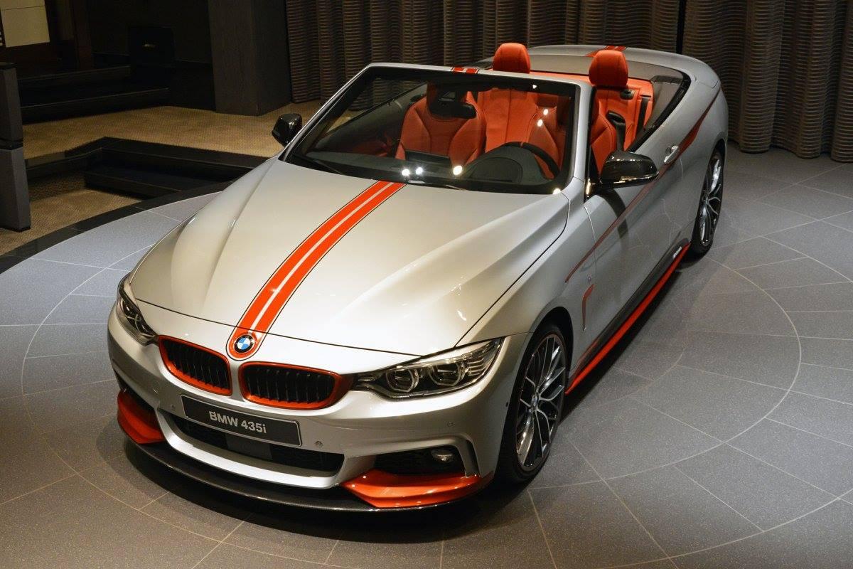 BMW 435i Convertible Gets Orange M Performance Kit, Akrapovic Pipes - autoevolution