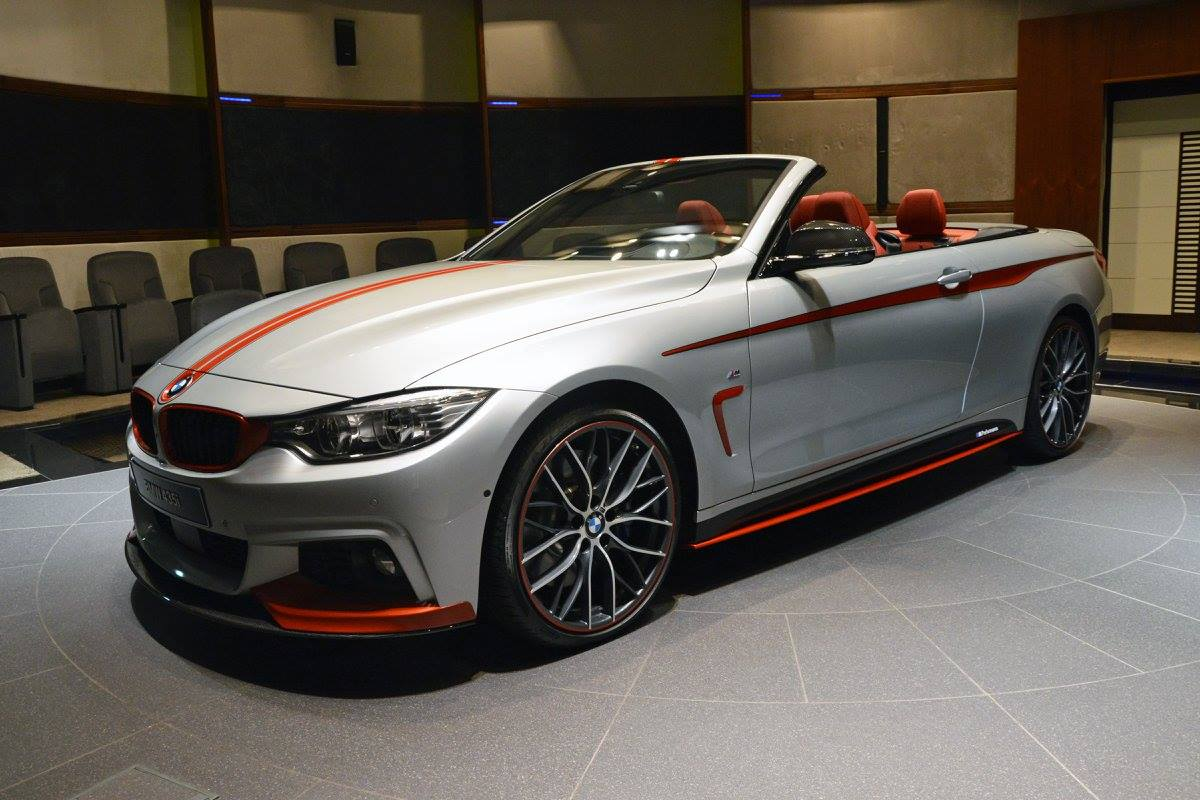bmw 435i convertible gets orange m performance kit akrapovic pipes autoevolution. Black Bedroom Furniture Sets. Home Design Ideas