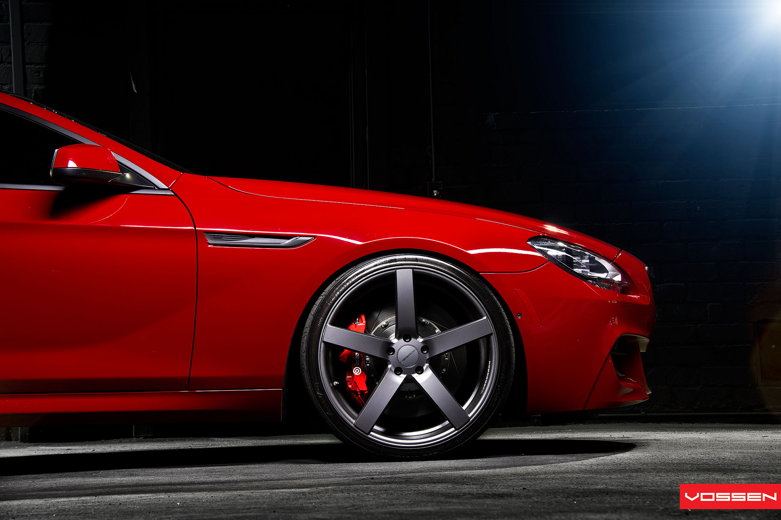 Bmw 6 series coupe on vossen concave wheels photo gallery