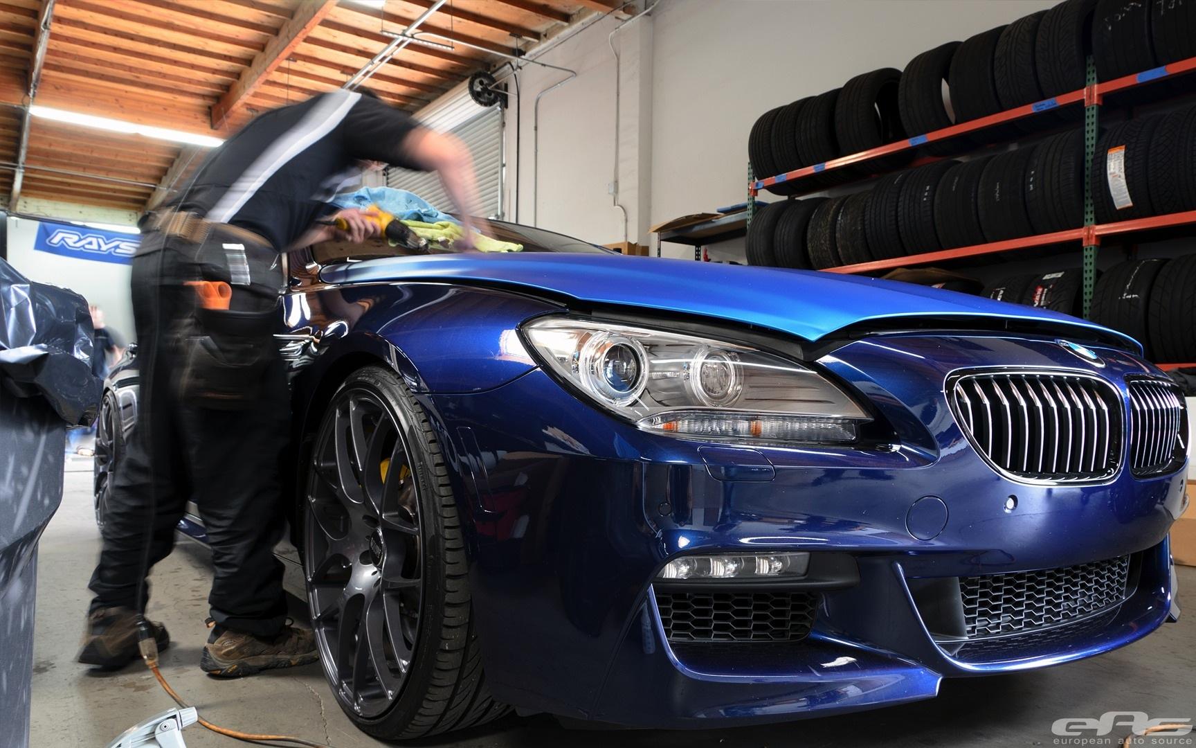 BMW 640i Gran Coupe Gets Matte Blue Wrap at EAS ...