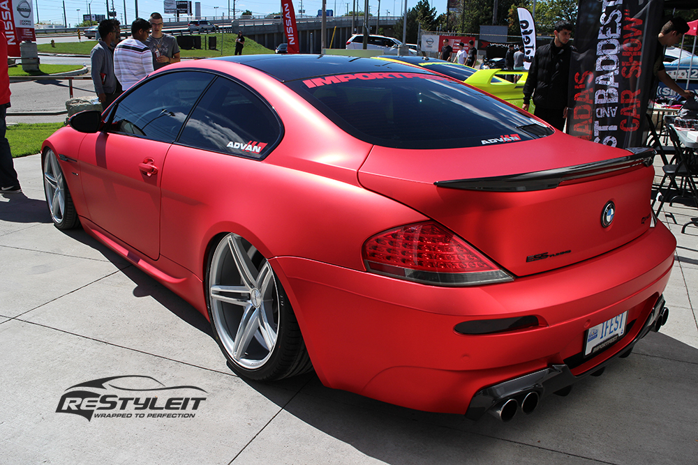 Bmw 645i Matte Red Chrome Full Body Wrap Autoevolution