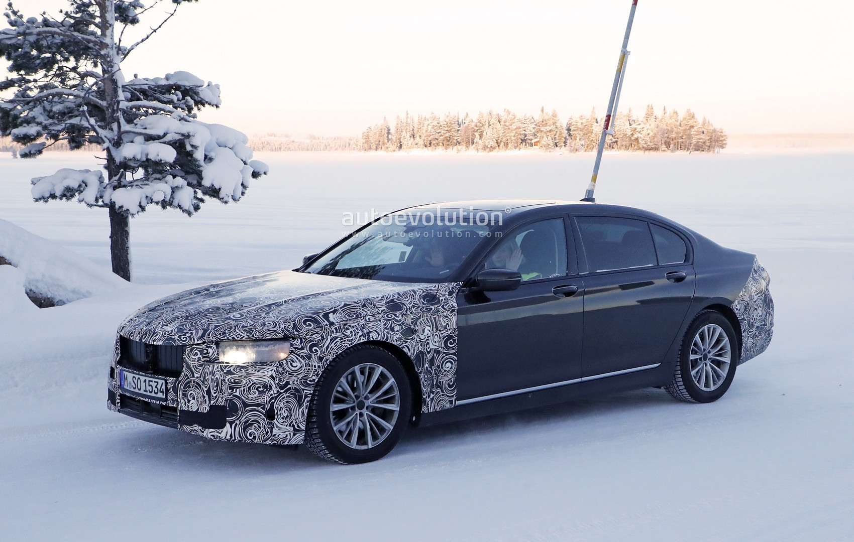 Bmw 7 Series Facelift Spied Winter Testing Without A
