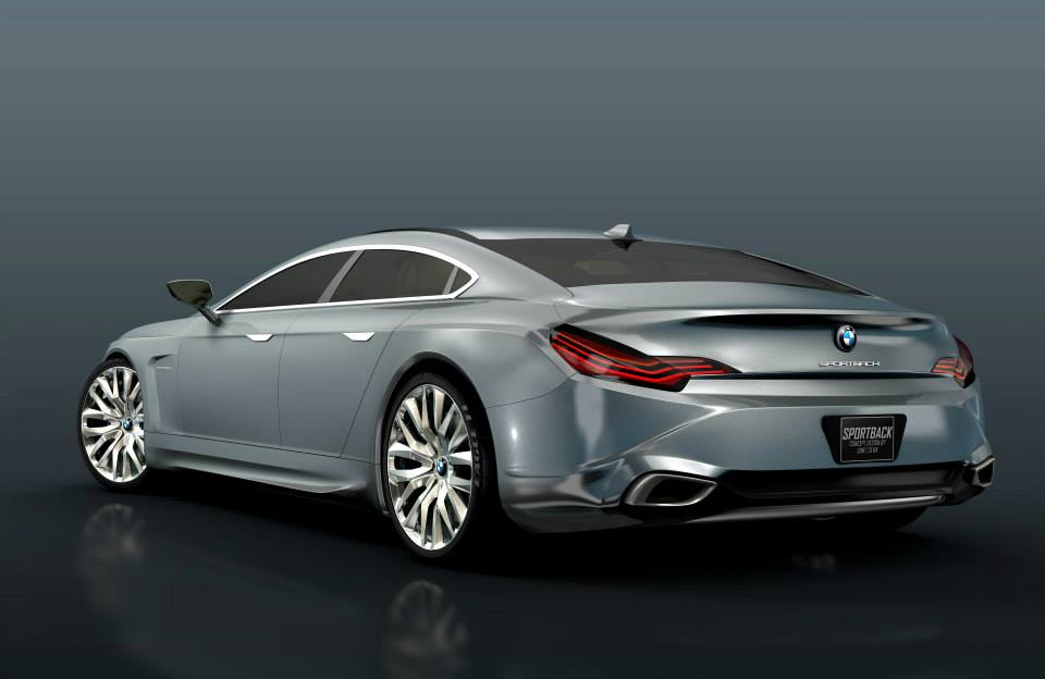 bmw series sportback concept rendered cars autoevolution rendering quarter rear m5