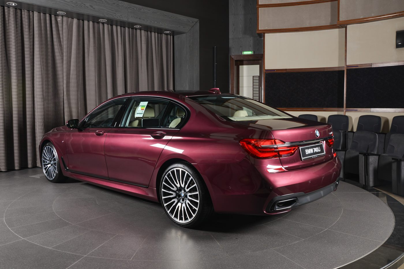 BMW 740Li in Individual Wildberry Paint Looks Juicy ...