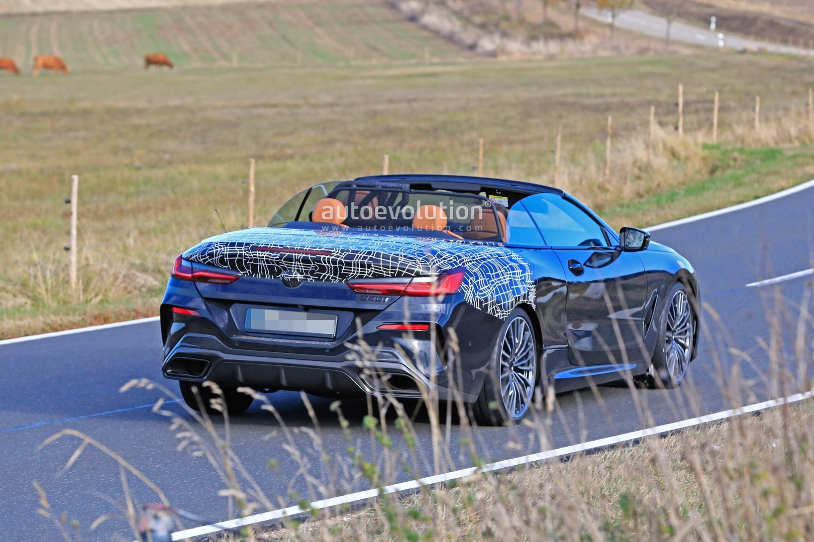 Bmw 8 Series Cabrio Spied As 840i M Sport Debut Is
