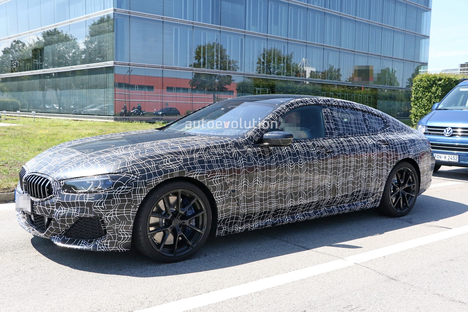 bmw 8 series gran coupe spied for the first time as m850i. Black Bedroom Furniture Sets. Home Design Ideas