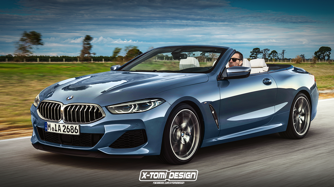 bmw 8 series rendered as cabrio pickup gran coupe and. Black Bedroom Furniture Sets. Home Design Ideas