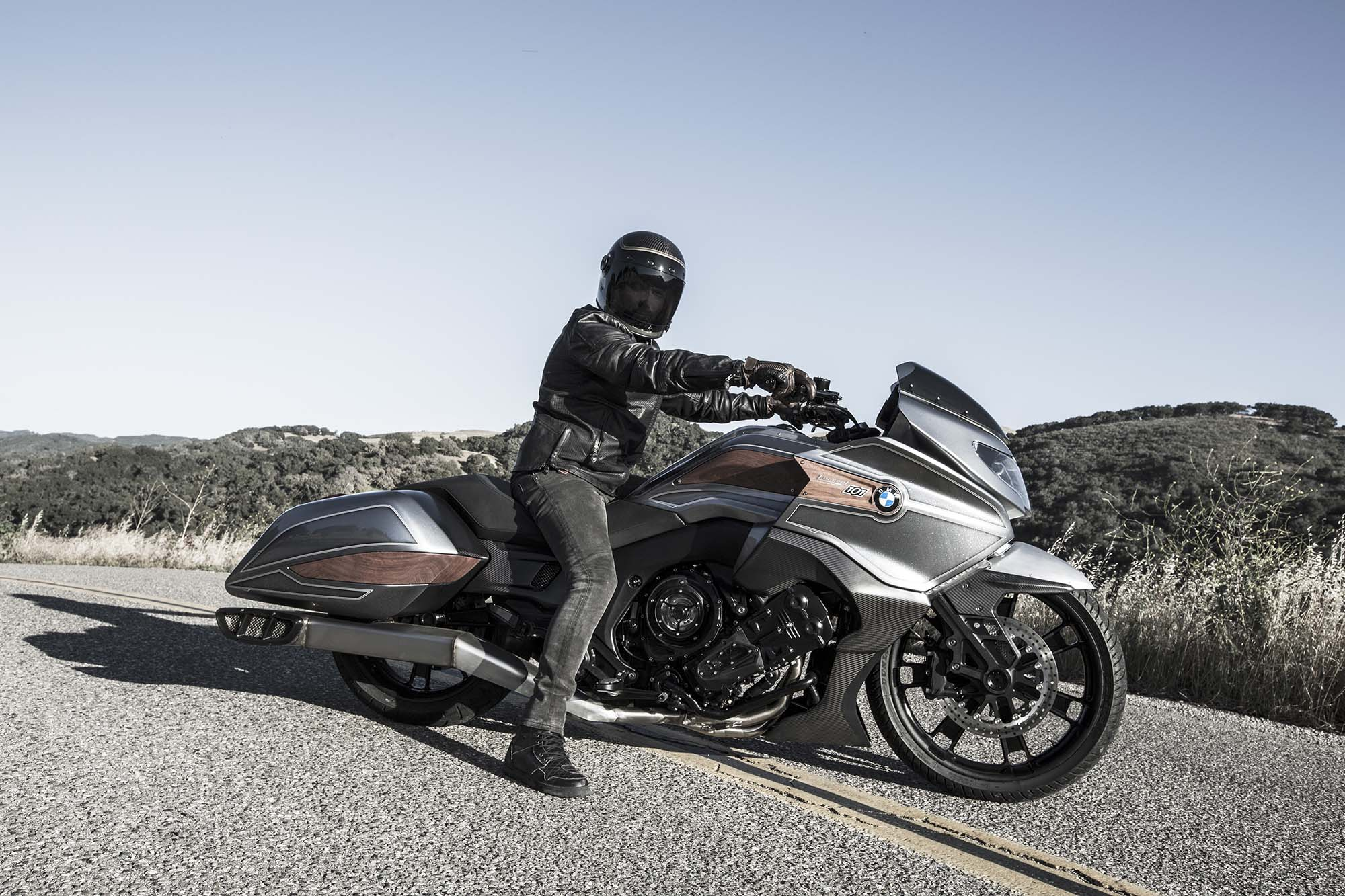 Bmw Concept 101 Is A Wood Trimmed Six Cylinder Bagger Of