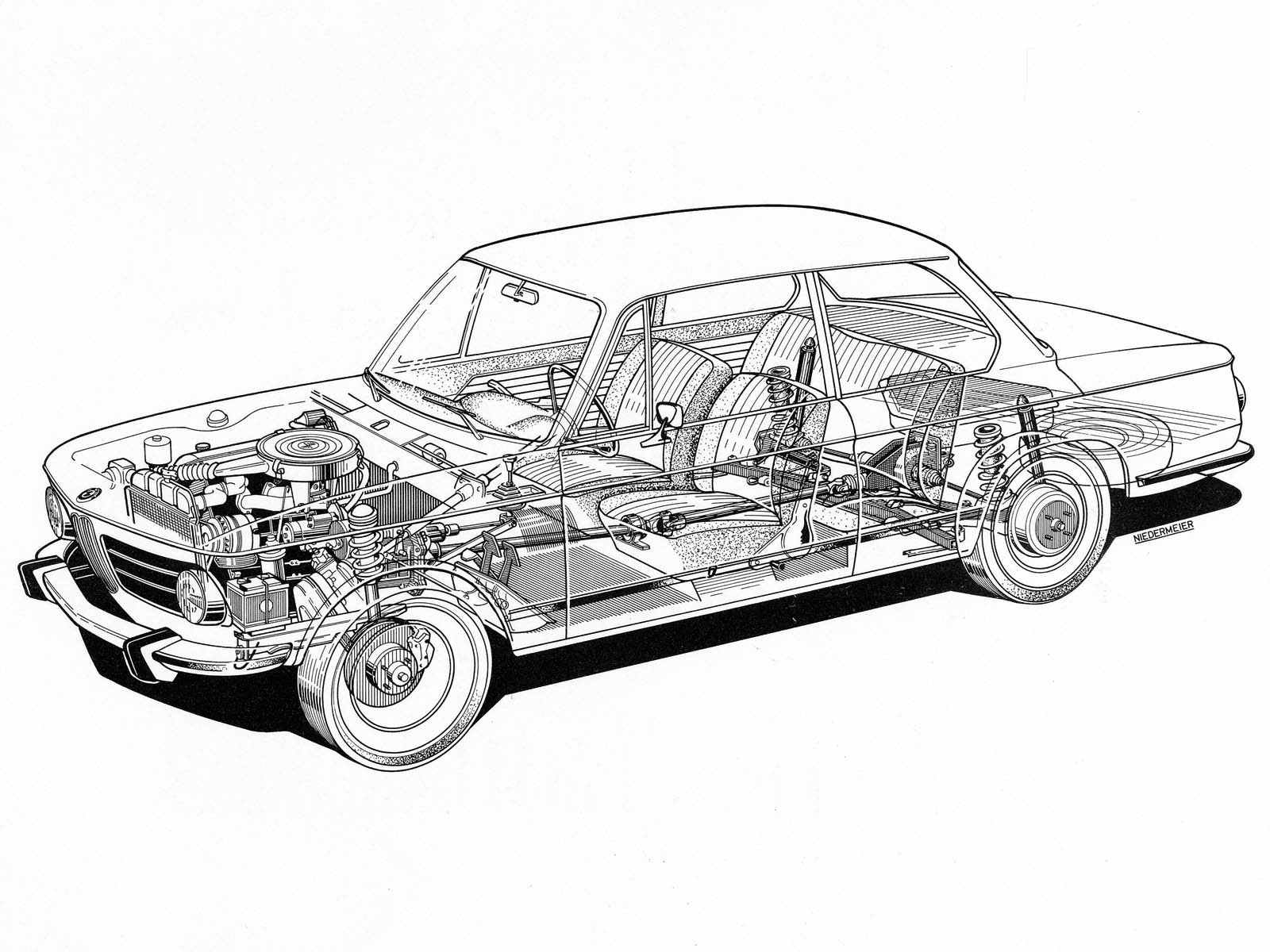 Bmw Cutaway Illustrations Are Everything You Ever Wanted Photo Gallery