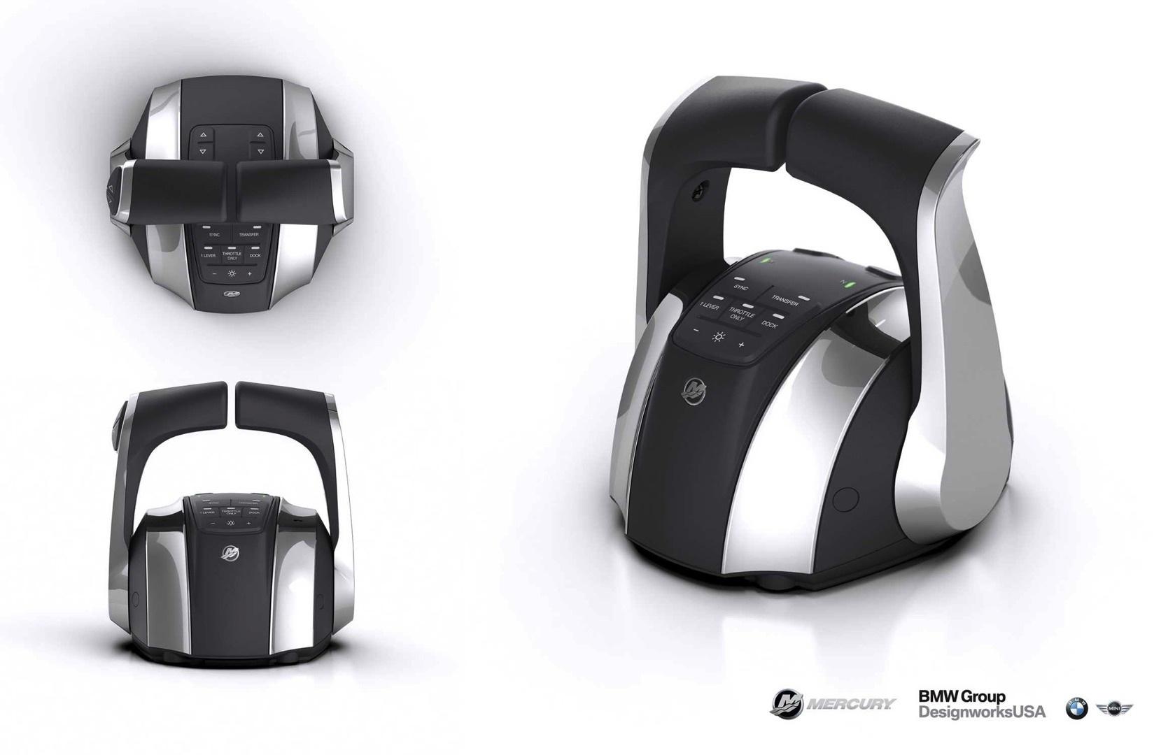 mercury marine electronic remote control designed by bmw group designworksusa. Black Bedroom Furniture Sets. Home Design Ideas