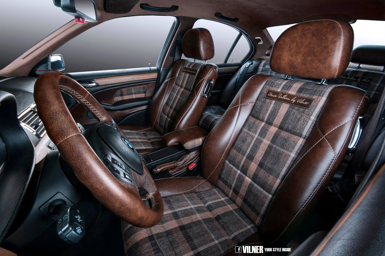 Bmw e46 3 series gets hipster interior from vilner for Interieur tuning auto