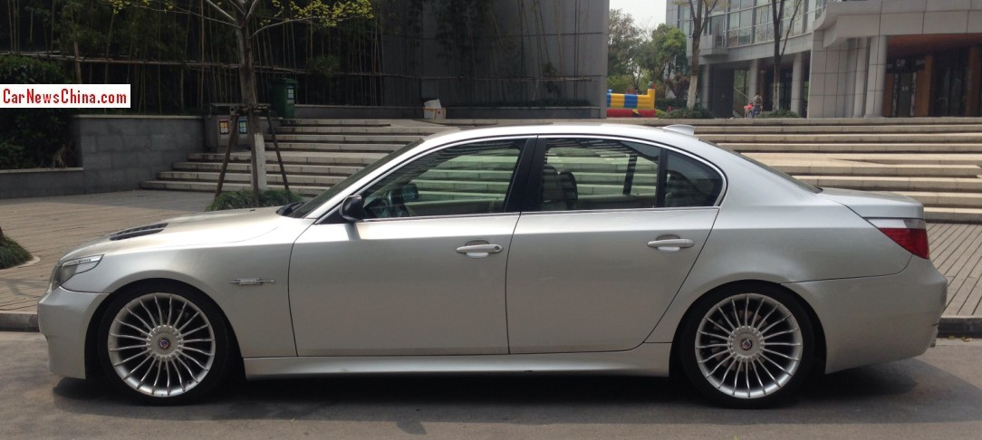 Bmw E60 5 Series Spotted Wearing Alpina Wheels In China