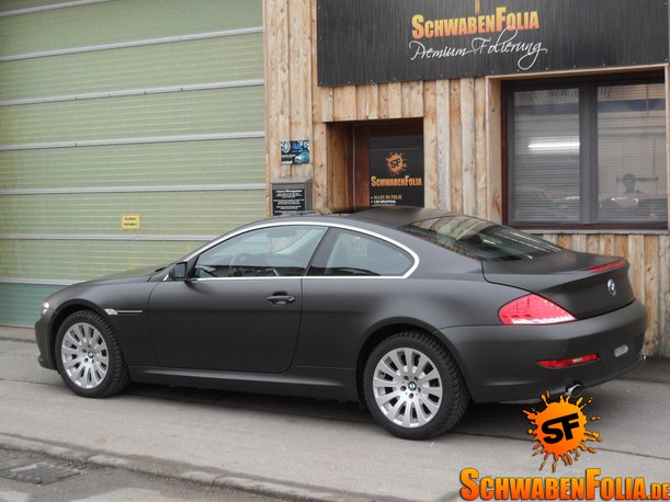 Bmw E64 6 Series Comes In Diamond Black Matte From