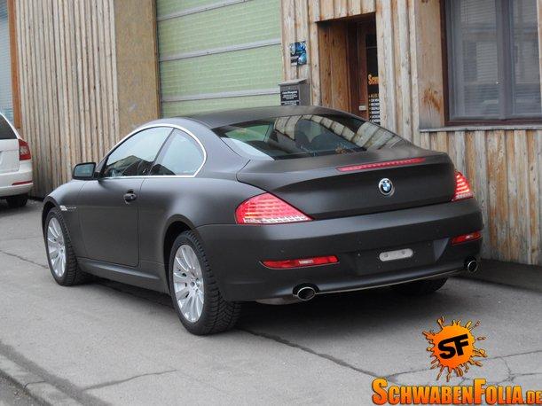 Matte Black Bmw >> BMW E64 6 Series Comes in Diamond Black Matte from Schwaben Folia - autoevolution