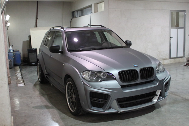 Bmw E70 X5 Typhoon In Matte Silver Grey Autoevolution