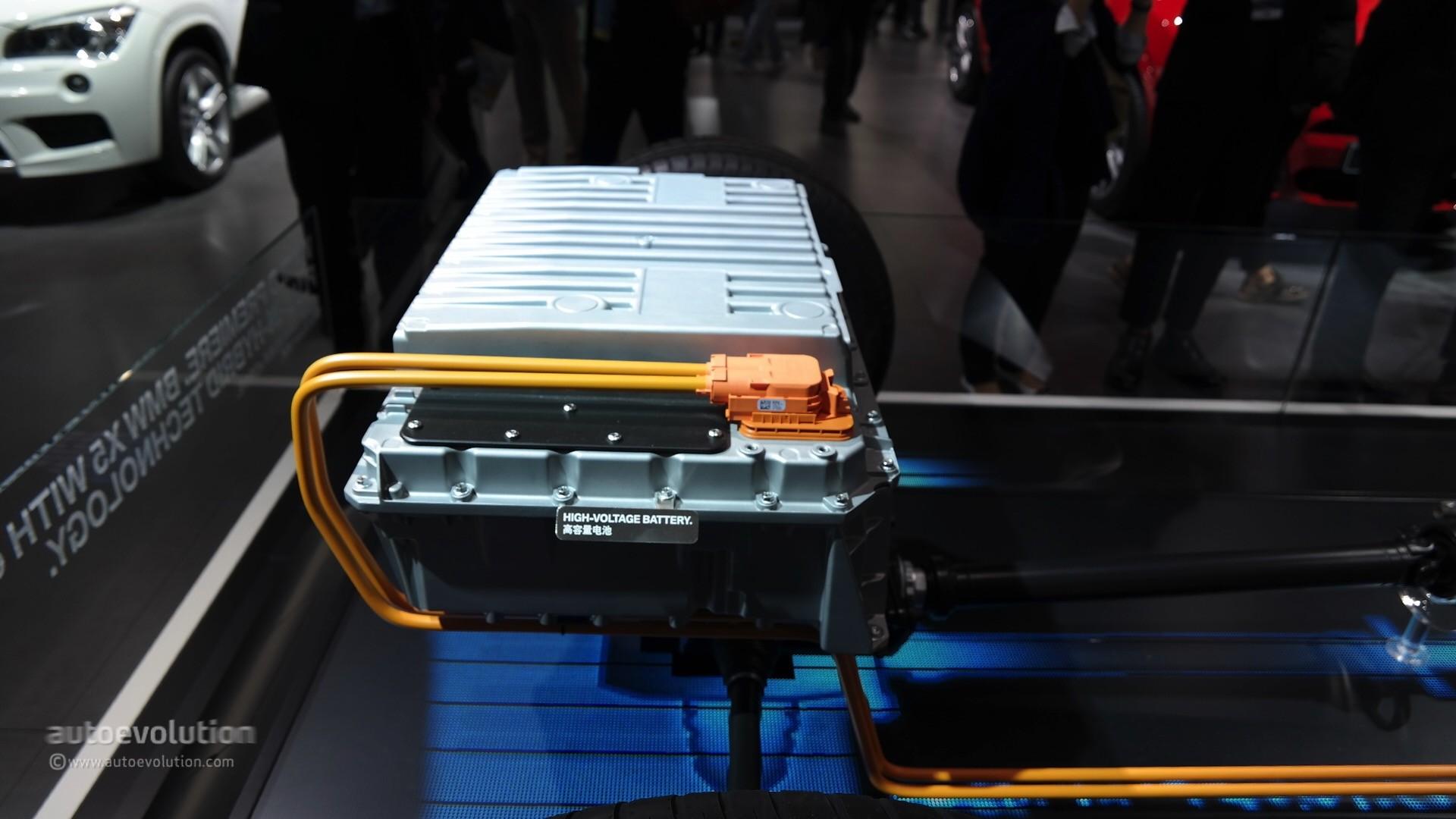 bmw x5 xdrive40e battery at auto shanghai