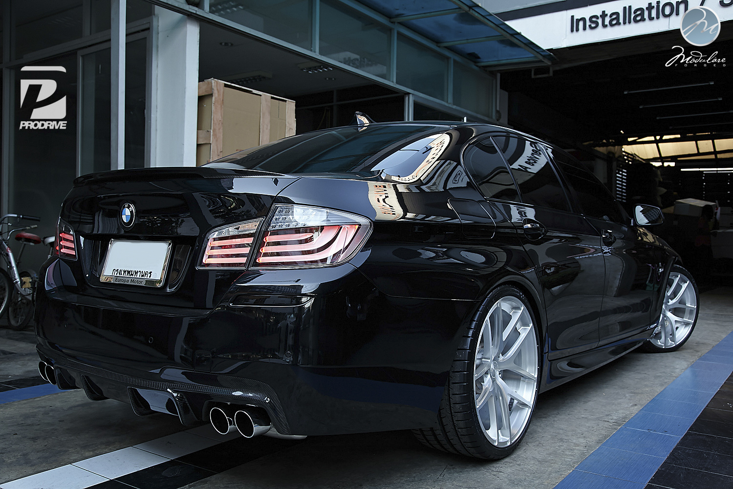 Bmw F10 550i Has Modulare Wheels In Bangkok Autoevolution