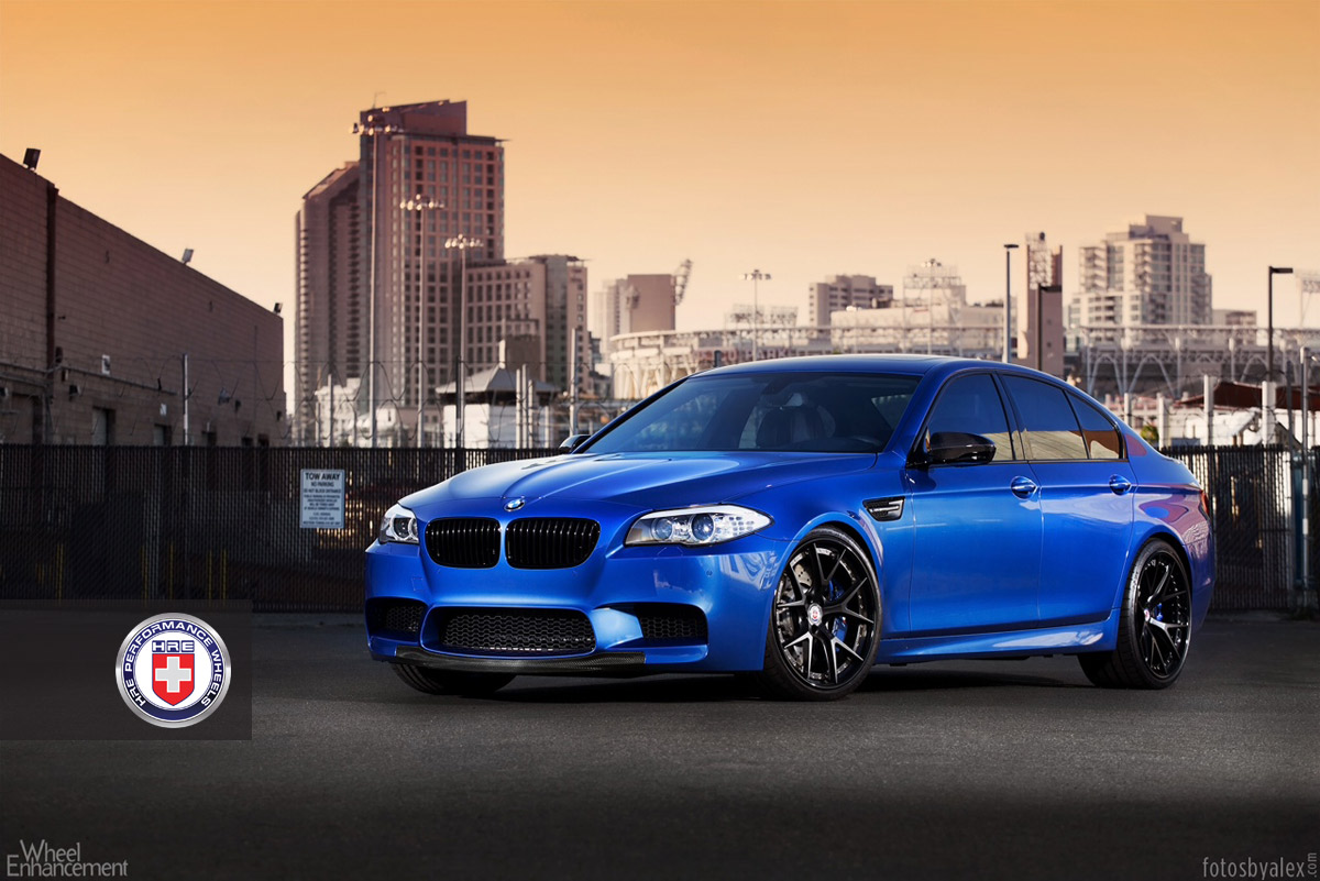 BMW F10 M5 Has Black Wheels and Blue Calipers - autoevolution