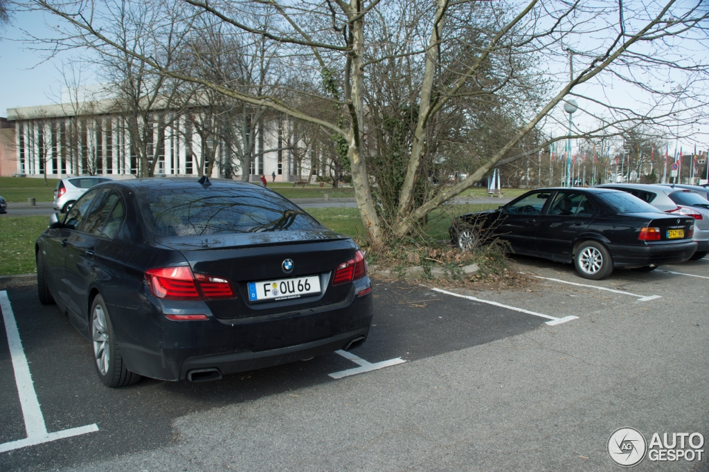 bmw f10 m550d xdrive spotted in strasbourg autoevolution. Black Bedroom Furniture Sets. Home Design Ideas