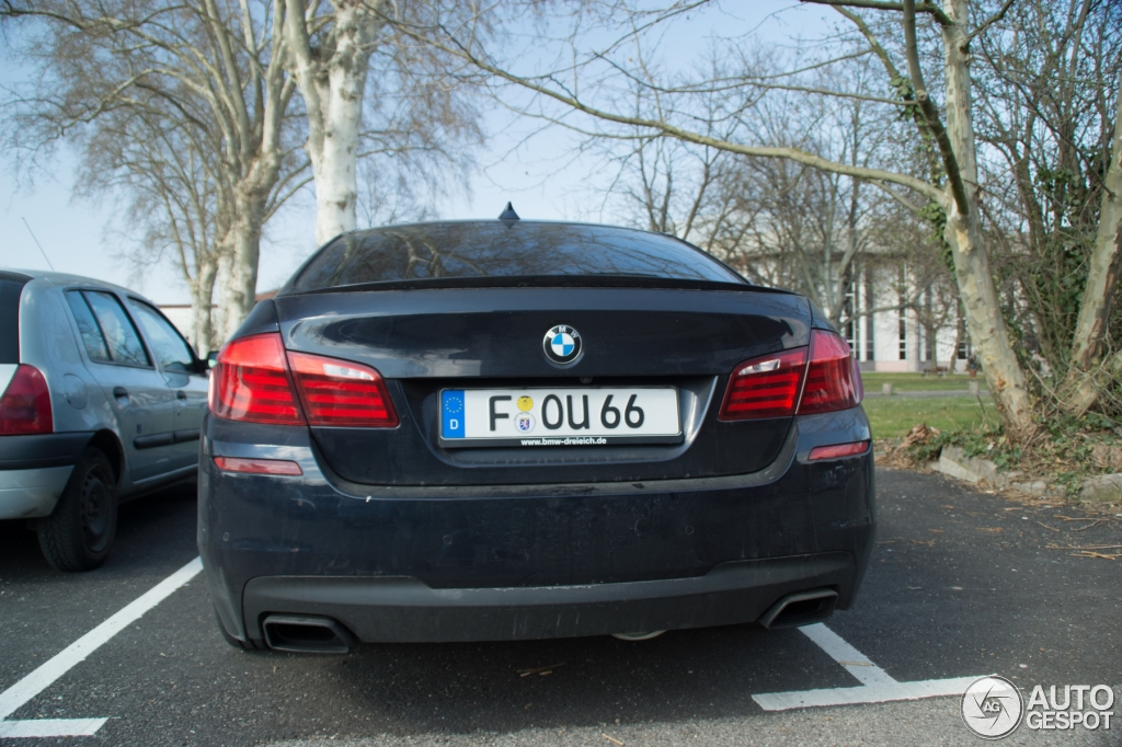 Bmw F10 M550d Xdrive Spotted In Strasbourg Autoevolution