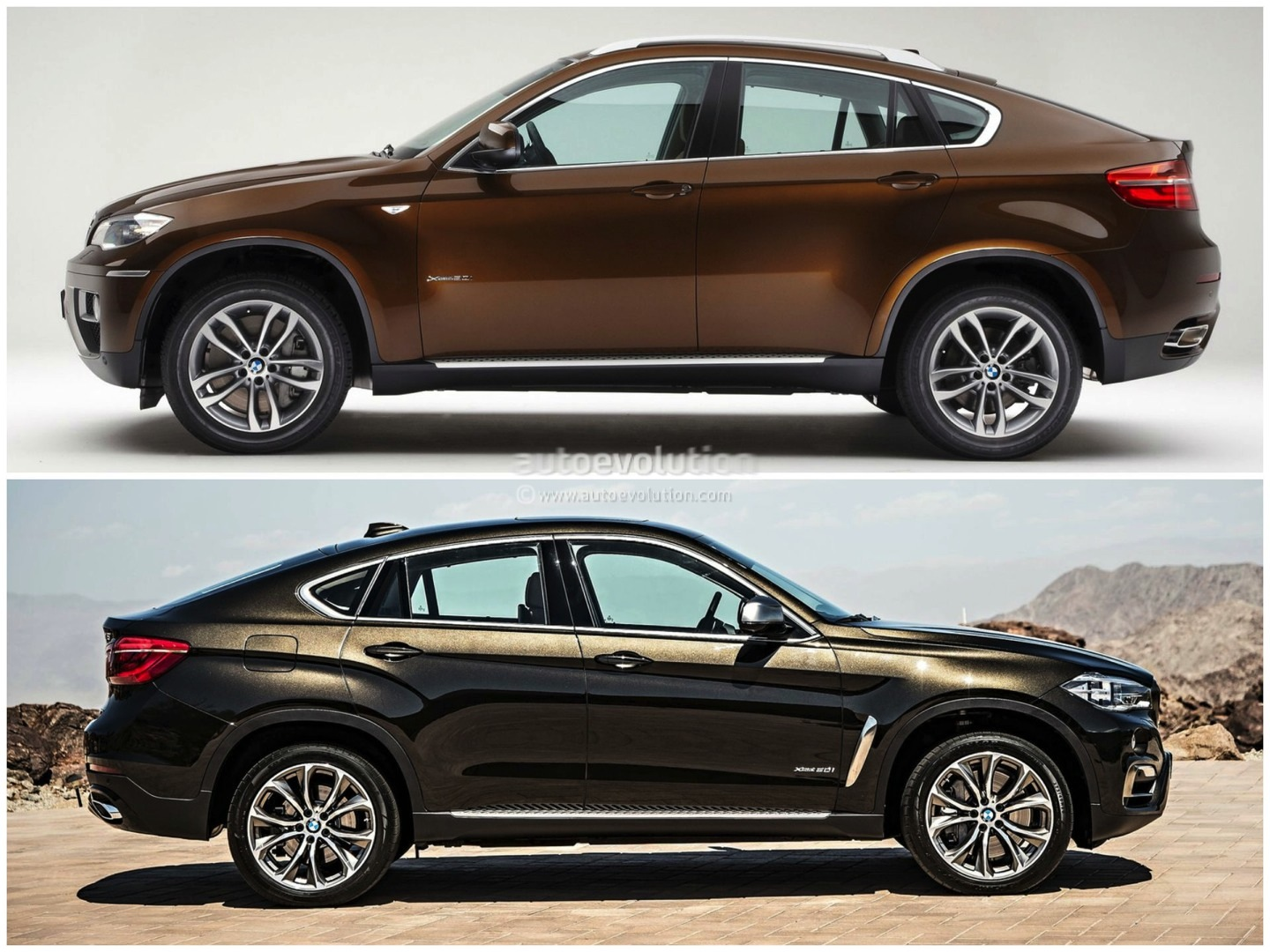 bmw f16 x6 vs bmw e71 x6 photo comparison autoevolution. Black Bedroom Furniture Sets. Home Design Ideas