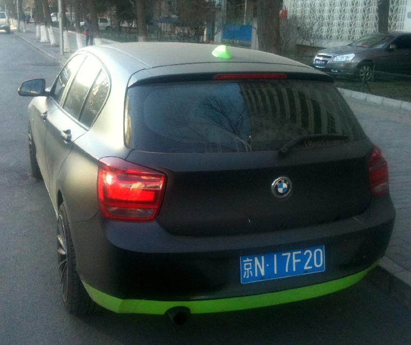 Bmw F20 1 Series Comes In Matte Black In China Autoevolution