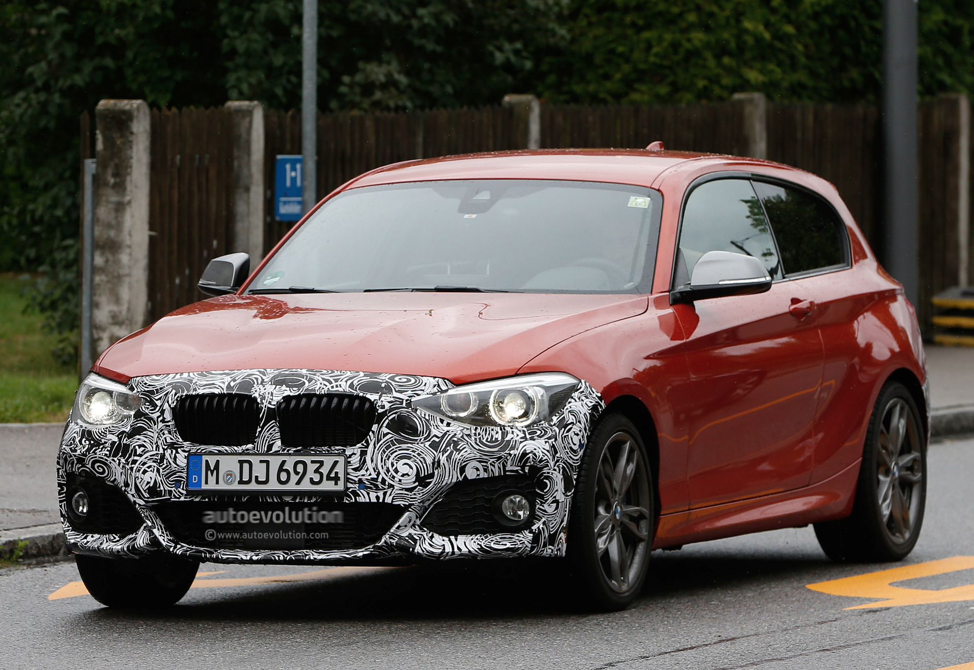 Bmw F21 M135i Facelift Goes Out For Tests Barely