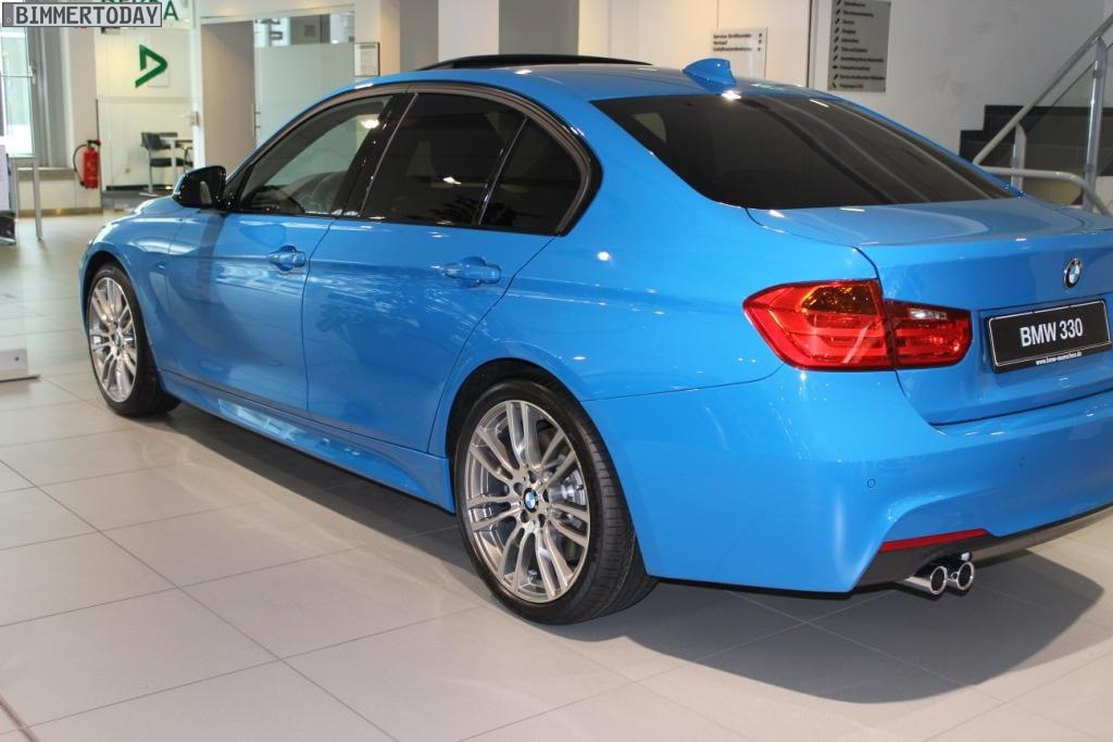 bmw f30 3 series in individual pure blue is pure madness autoevolution. Black Bedroom Furniture Sets. Home Design Ideas