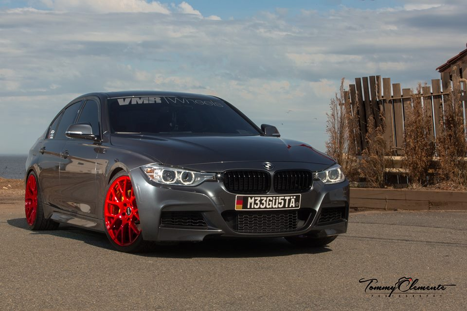Bmw F30 335i Looks Lethal On Red Wheels Autoevolution