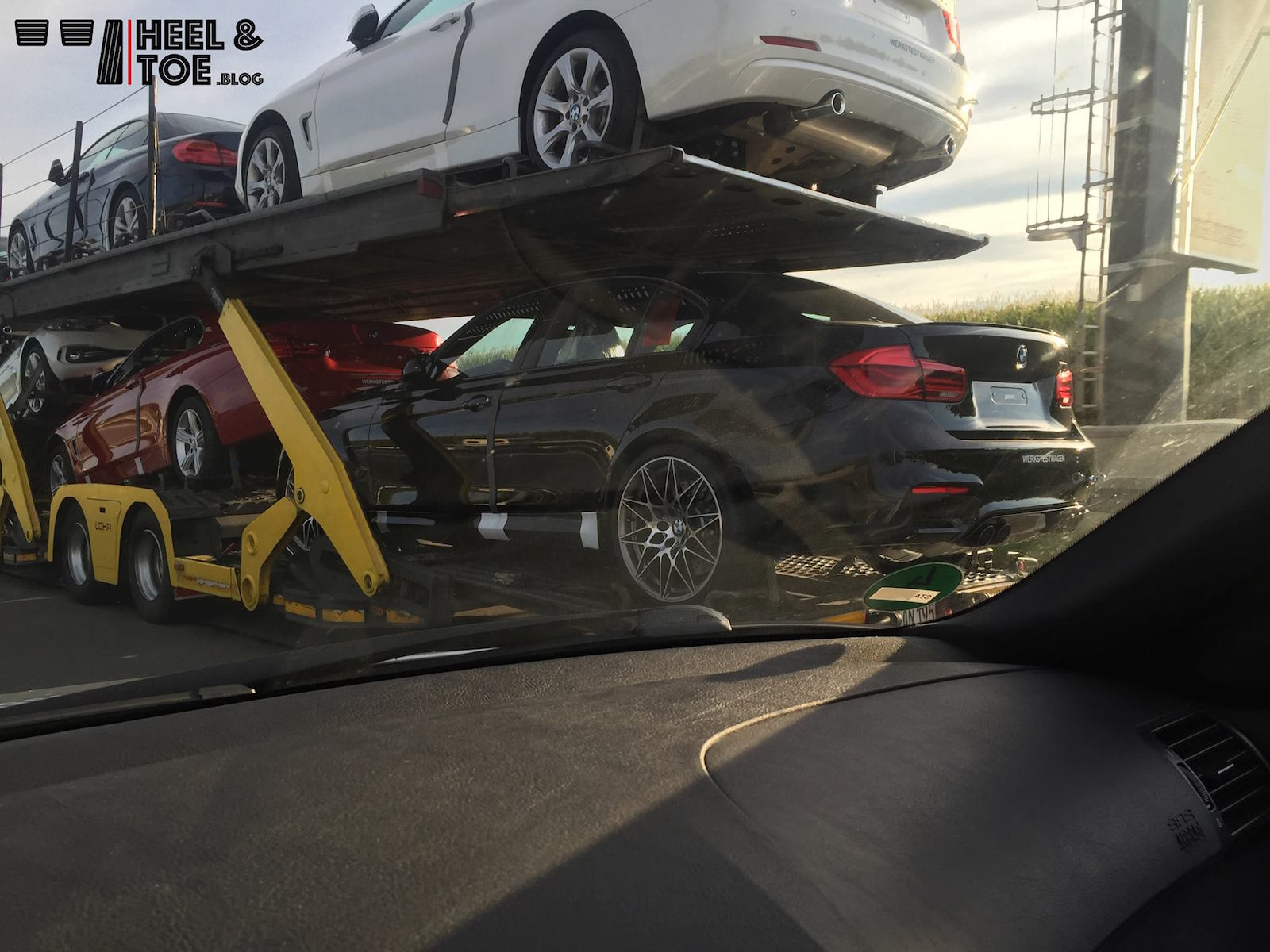 Bmw F80 M3 Competition Package Spotted By Accident On A Trailer
