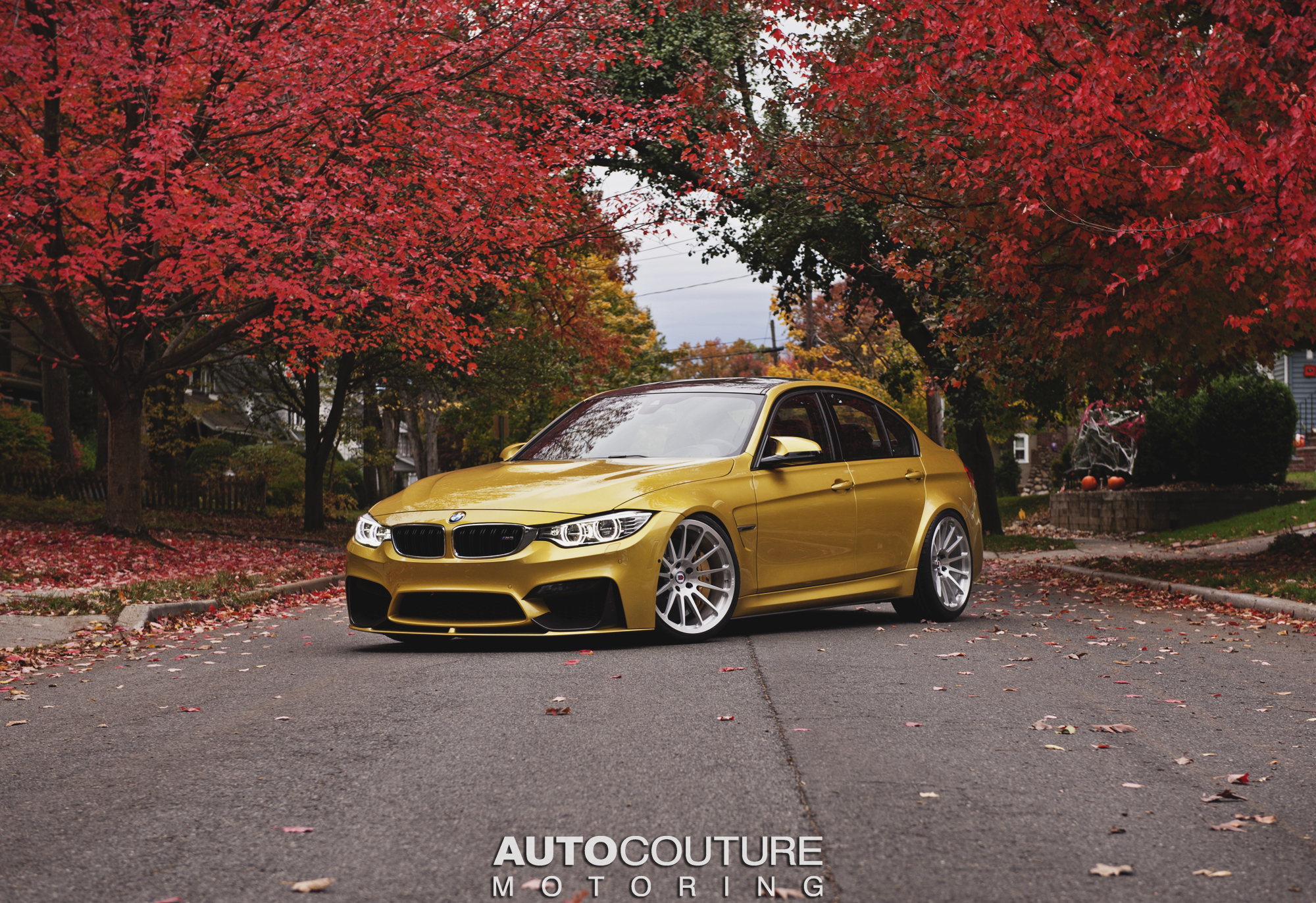bmw f80 m3 shows its autumn colors on hre classic wheels
