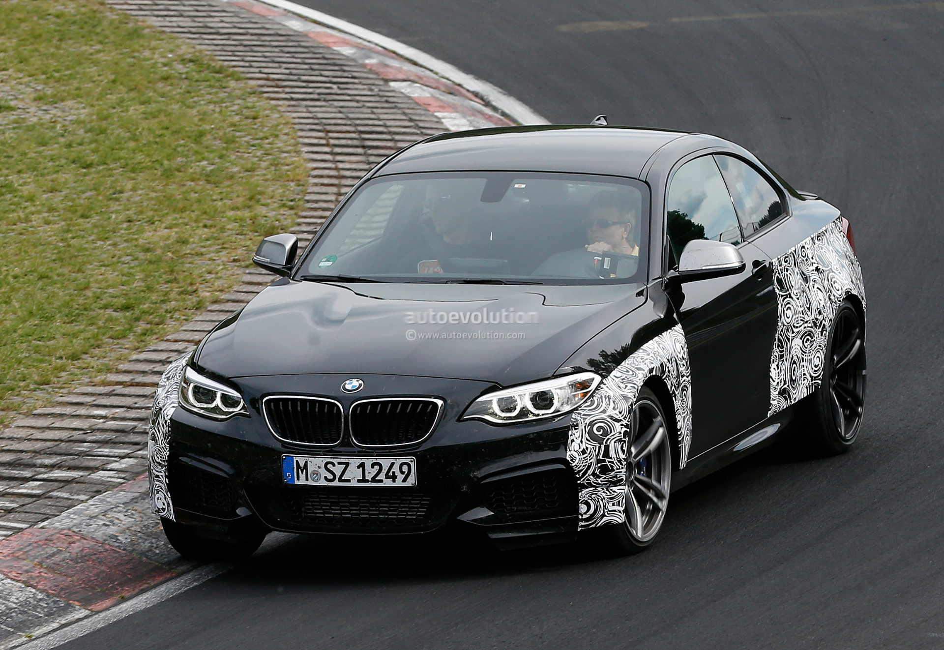 bmw f87 m2 spied up close on the green hell photo gallery. Black Bedroom Furniture Sets. Home Design Ideas