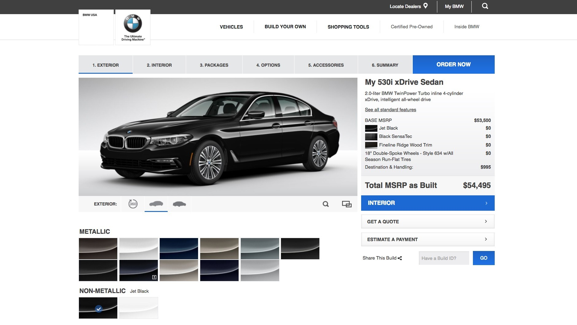 Bmw G30 5 Series Configurator Goes Online For U S Model