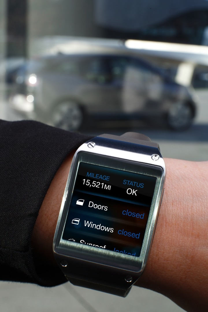 BMW i Remote App for Galaxy Gear Introduced at 2014 CES