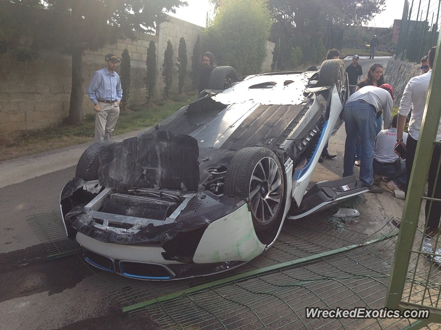 Bmw I8 Flips During Test Drive Crash In Mexico Doors Open