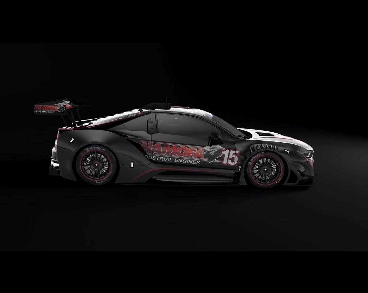Bmw I8 Gtr Silhouette Racing Car Abandons Plug In