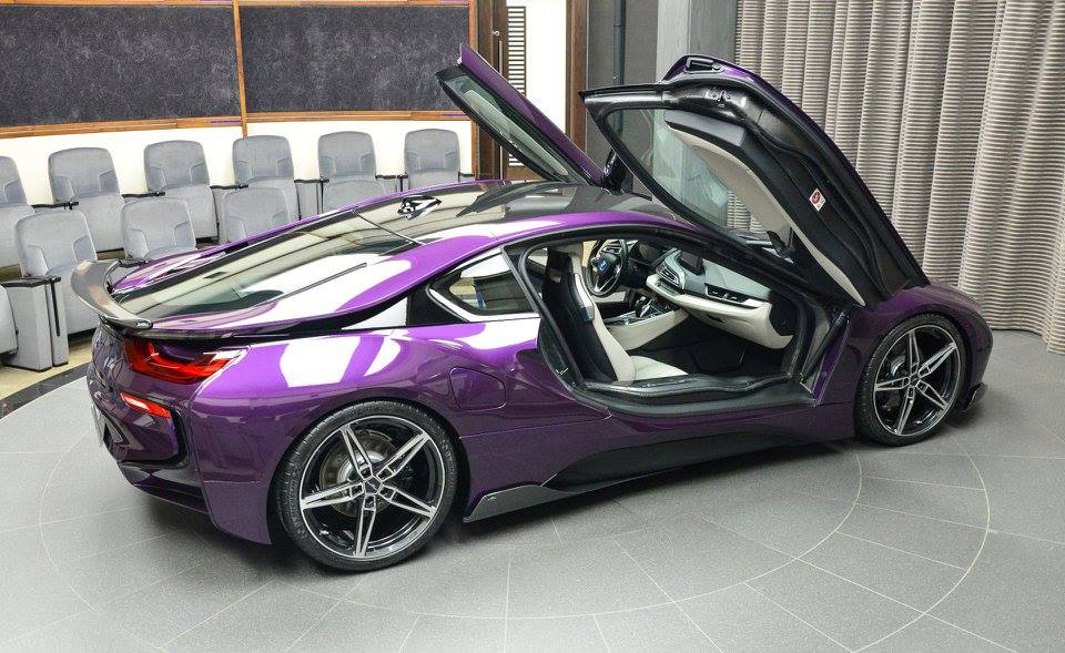 Bmw I8 In Twilight Purple Gets Ac Schnitzer Carbon Kit Autoevolution