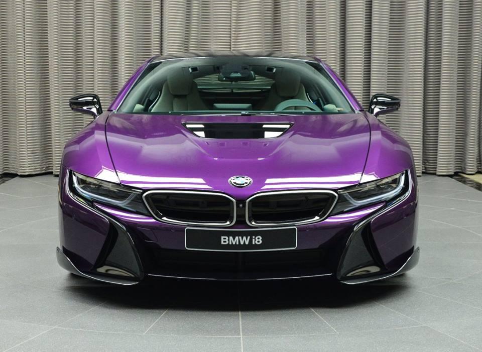 Bmw I8 In Twilight Purple Gets Ac Schnitzer Carbon Kit