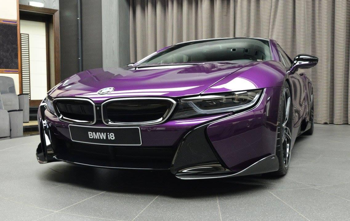Bmw I8 In Twilight Purple Gets Ac Schnitzer Carbon Kit Autoevolution