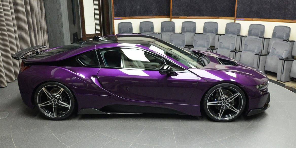 Bmw I8 In Twilight Purple Gets Ac Schnitzer Carbon Kit