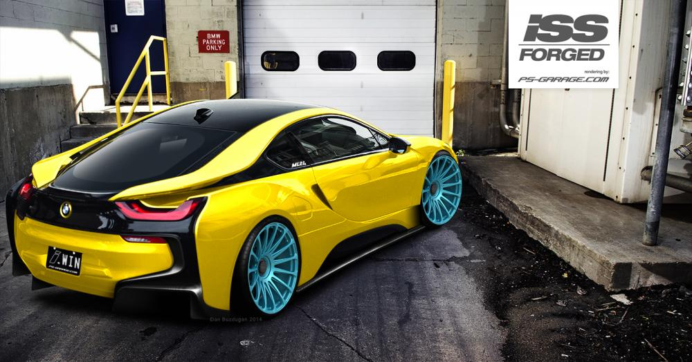 Bmw I8 Rendered On Iss Forged Wheels Autoevolution
