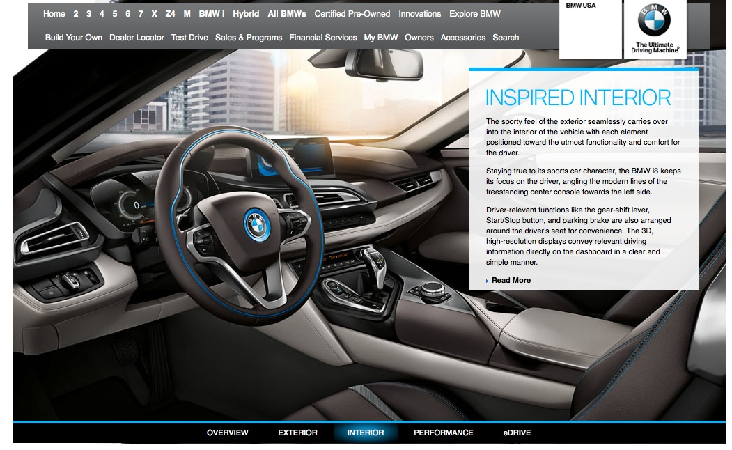 BMW i8 Shows Up on US Website - autoevolution
