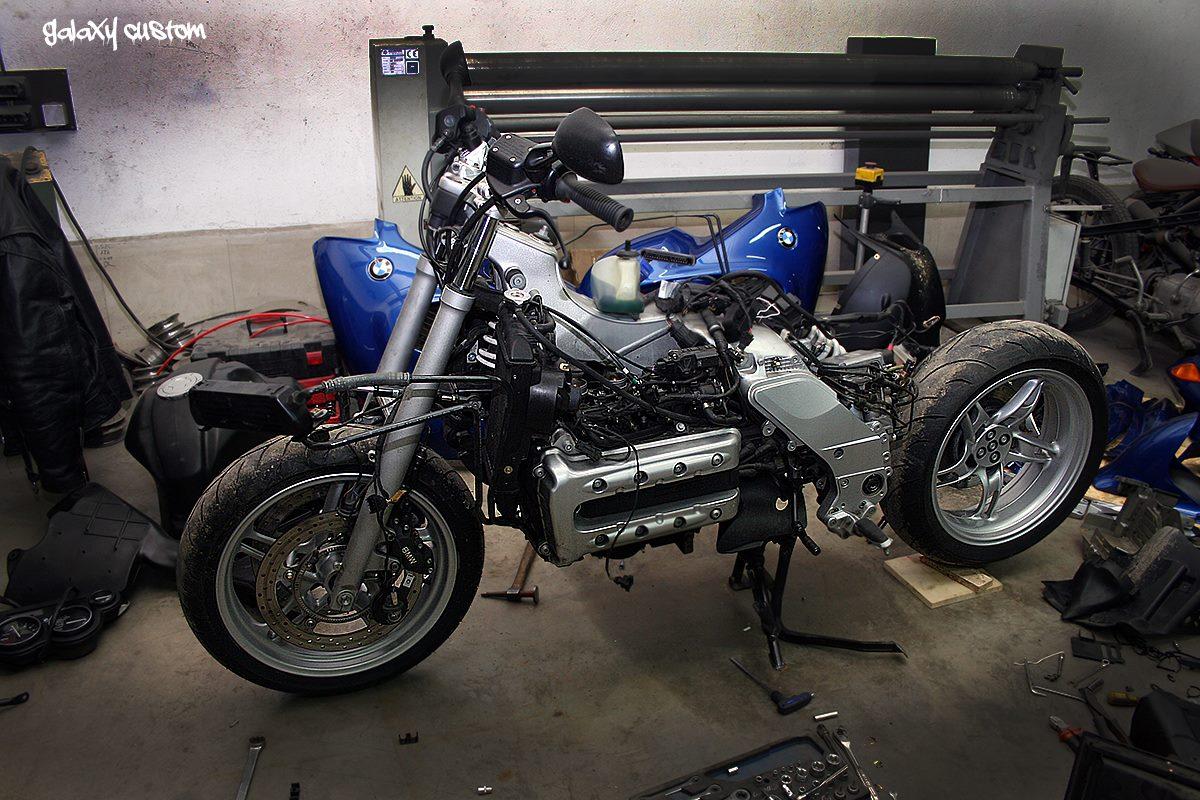 BMW K1200RS Visits Galaxy Custom, Becomes a Radical Bobber ...