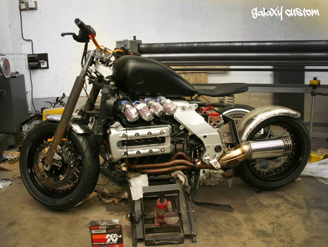 Bmw K1200rs Visits Galaxy Custom Becomes A Radical Bobber