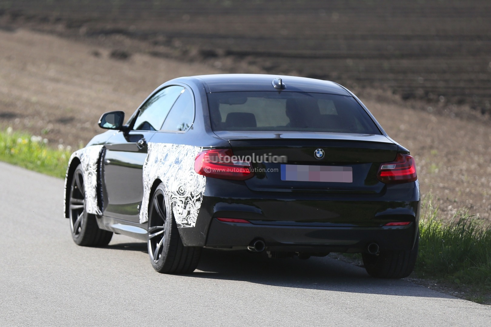 bmw m2 coupe spied testing for the first time autoevolution. Black Bedroom Furniture Sets. Home Design Ideas