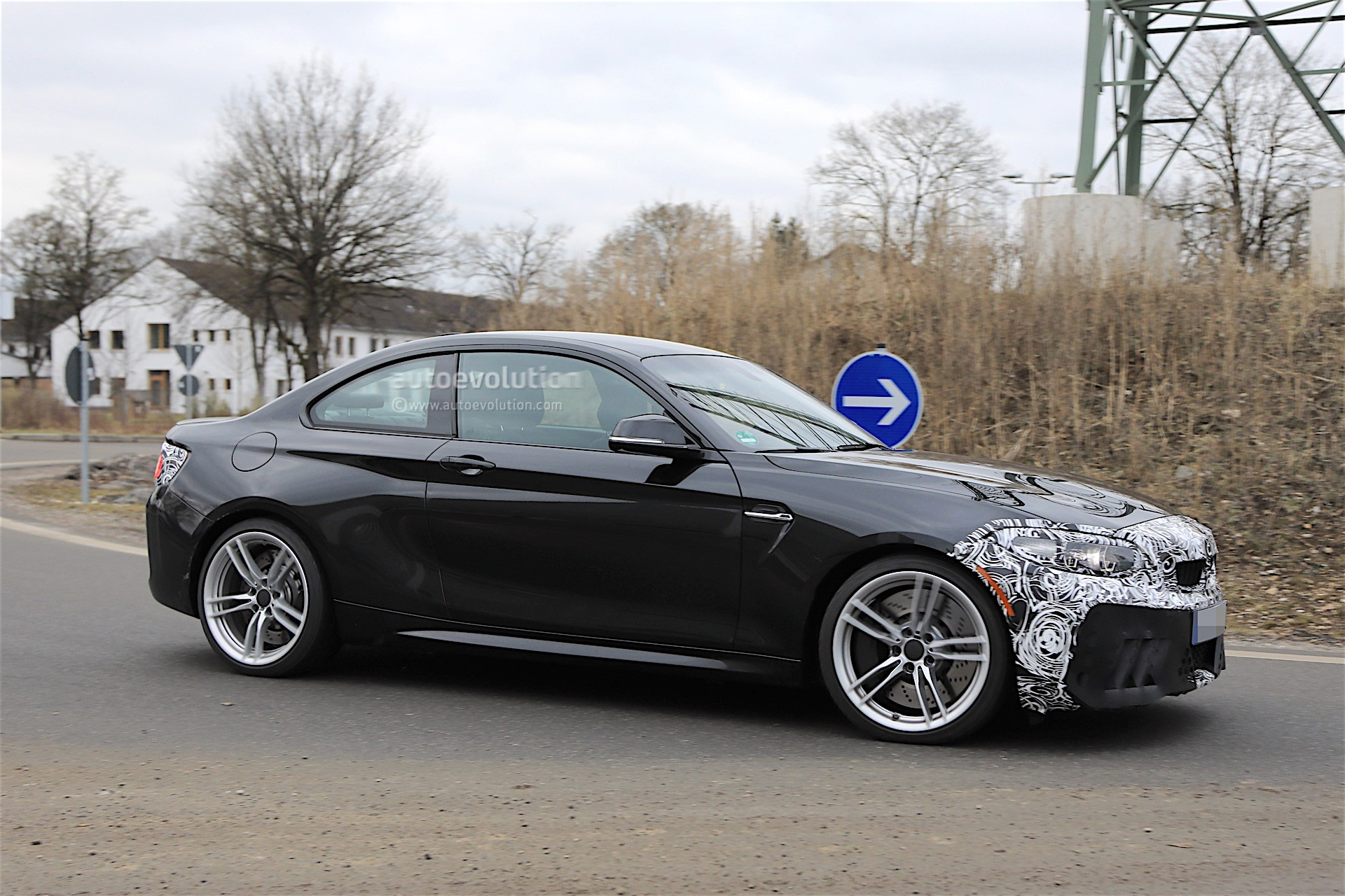 2018 bmw m2 cs spotted winter testing with m3 engine autoevolution. Black Bedroom Furniture Sets. Home Design Ideas